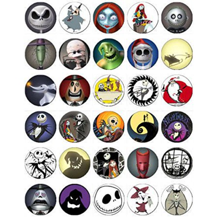30 Nightmare Before Christmas Edible Frosting Cupcake Toppers* - Frosting Cupcakes For Halloween