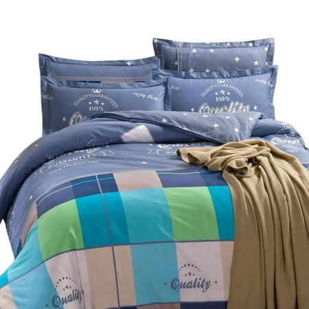 Bed Single Double King Super Duvet Quilt Cover Pillowcase Bedding Set Double ()