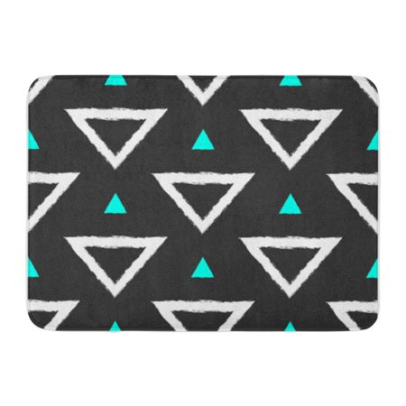 LADDKE Seamless Pattern with Triangles Painted by Hand Rough Brush Sketch Doormat Floor Rug Bath Mat 30x18 -