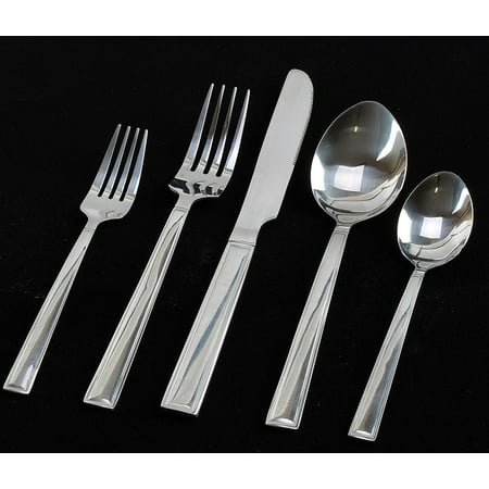 Flatware set 20-Piece - Flatware Sets for 4 - Stainless Steel Silverware Sets - Mirror Polished Cutlery Set ()