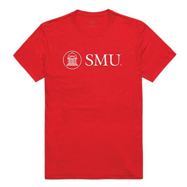 W Republic Apparel 516-150-R58-03 Southern Methodist University Mens Institutional Tee, Red - Large - image 1 of 1