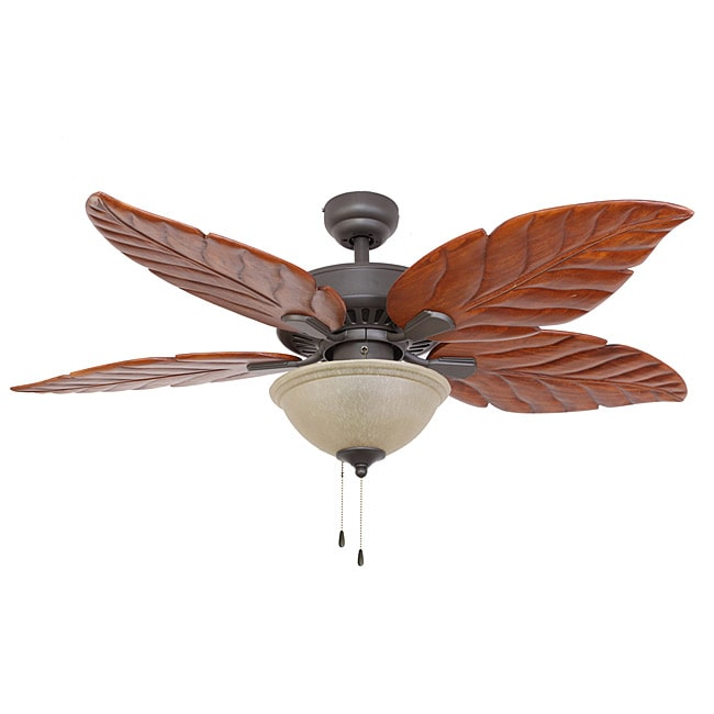 ecosure aruba 52-inch tropical bronze ceiling fan with hand-carved