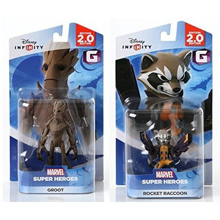 Disney INFINITY Marvel Super Heroes (2.0 Edition) - Groot and Rocket Raccoon Figures from Guardians of the Galaxy Bundle by Disney