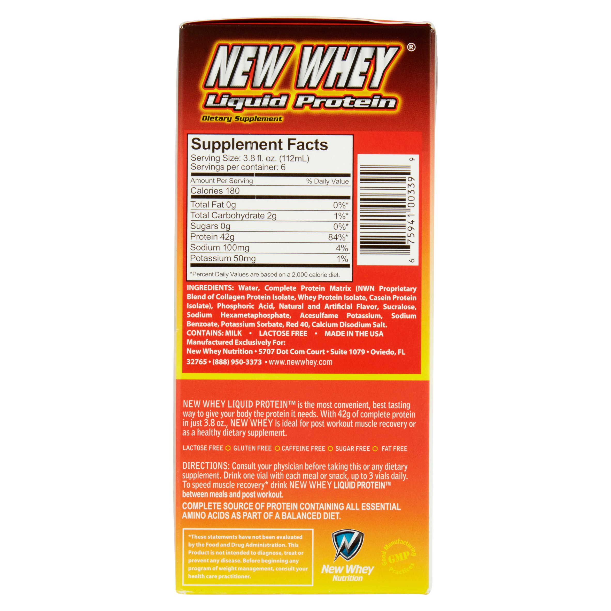 New Whey Protein Drink, 42 Grams of Protein, Fruit Punch, 3.8 Oz, 6 ...