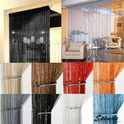 """Spencer 1x2M Door String Curtain Drops Beads Wall Panel Fringe Window Room Divider Strip Tassel for Wedding Home Decoration """"White"""""""