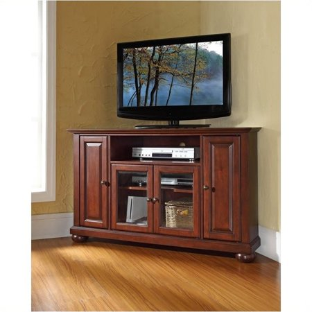 Pemberly Row 48″ Corner TV Stand in Vintage Mahogany