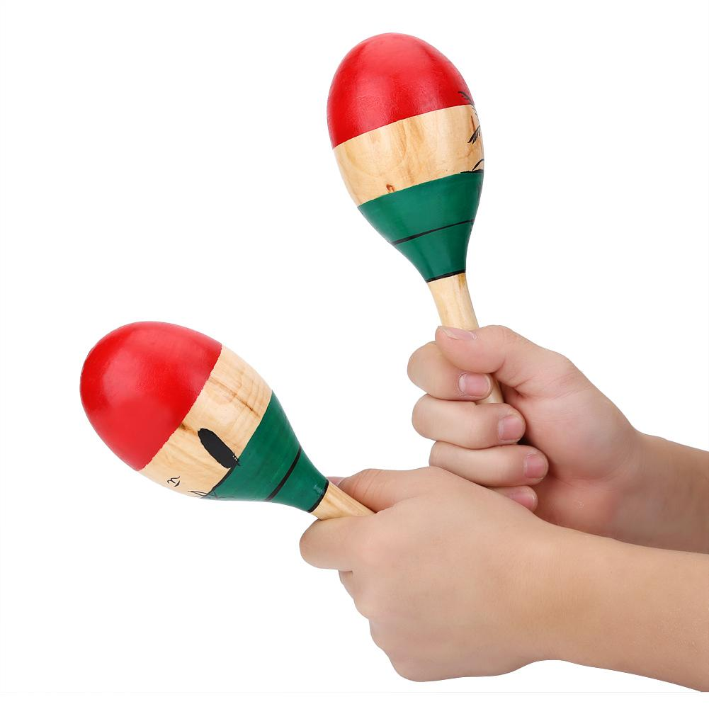 Wooden Maracas Toddler Children/'s Wooden Toys Music Toy Instruments Single Wood Maraca Toy