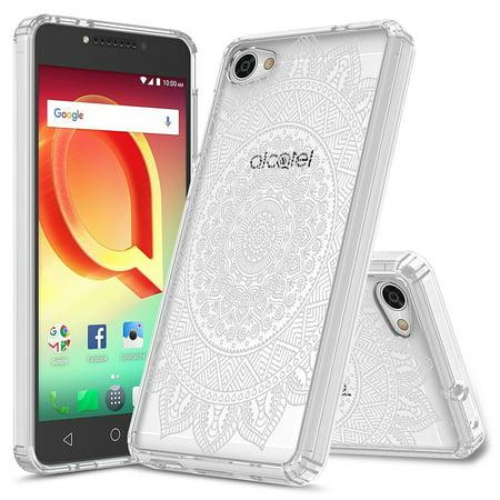 Alcatel A50 Case, Alcatel Pulsemix, Rosebono Slim Scratch-Resistant Pattern Designed Slim Shockproof Bumper Protective Cover for Alcatel A50 / Pulsemix (Mandala Mehndi)