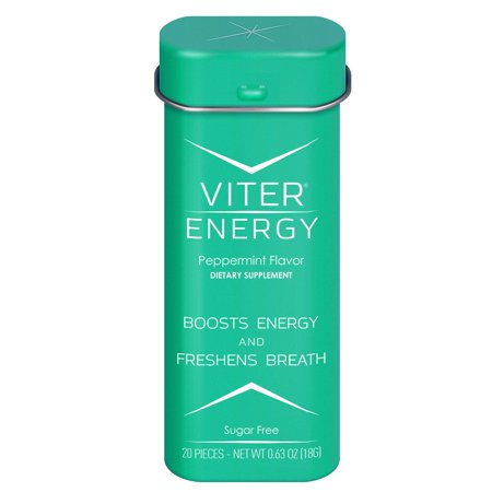 Monster Coffee Energy Drink - Viter Energy Peppermint Caffeinated Mints - 40mg Caffeine & B-Vitamins Per Powerful Sugar Free Mint. Boost Energy, Focus & Fresh Breath. 2 Pieces Replace 1 Coffee, Energy Drink, Caffeine Candy & Gum