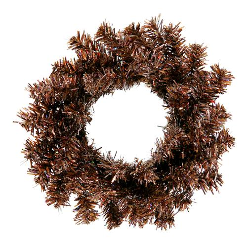 "6"" Sparkling Mocha Brown Artificial Christmas Wreath - Unlit"