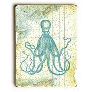 Artehouse LLC 'Octopus Nautical Map' Graphic Art