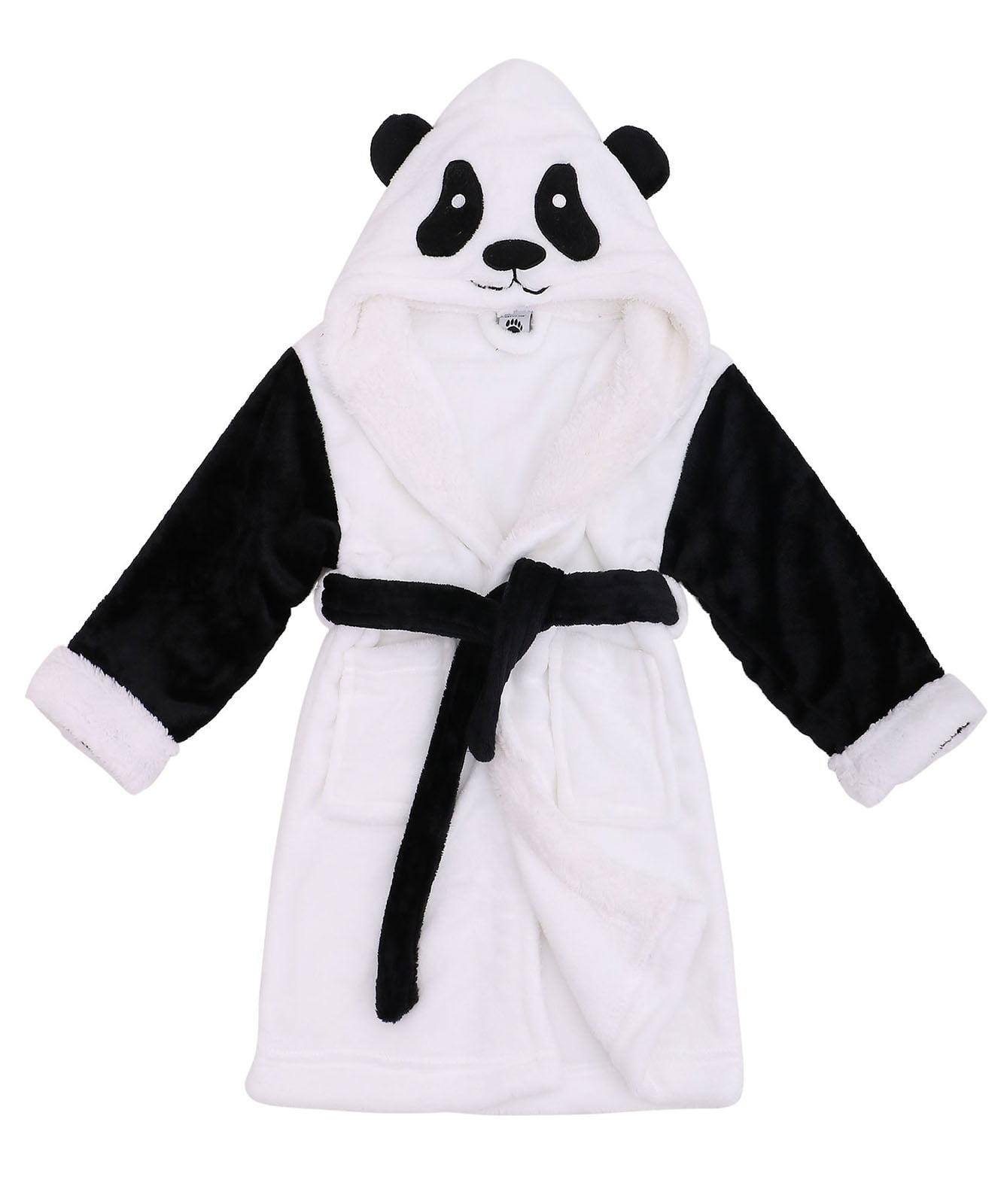 Baby Kids Hooded Pajamas Kigurumi Cosplay Costume Animal Home Bathrobe Robe
