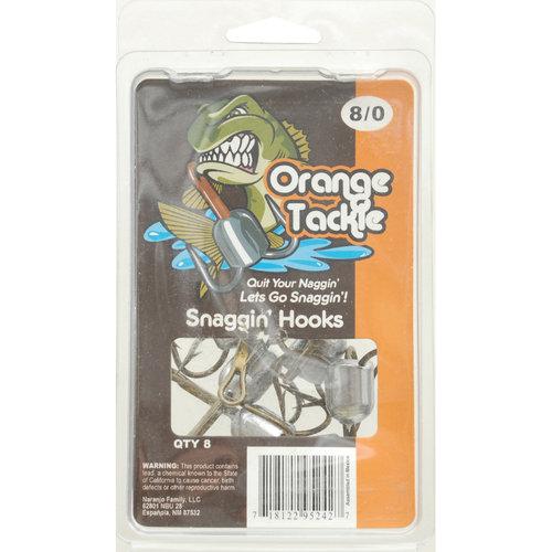Orange Tackle Snaggin' Hooks, 10/0, Red, 6pk