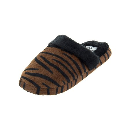 2c6d7763fa7 Beveryly Hills Polo Club - Beverly Hills Polo Brown Tiger Women's Slippers  - Walmart.com