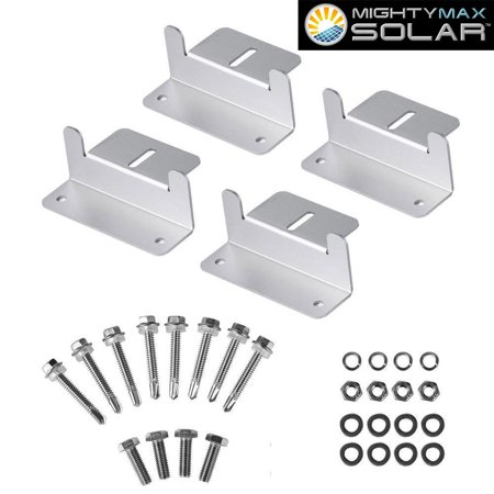 Solar Panel Mounting Z Bracket kit for 80 Watt Solar Panel ()