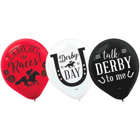 Kentucky Derby 'Derby Day' Latex Balloons (15ct) - Kentucky Derby Party Decorations