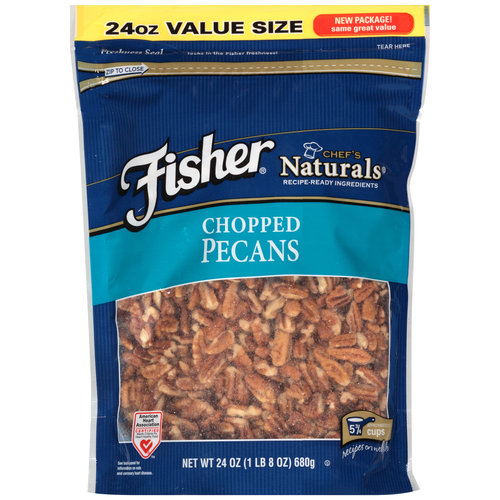 Fisher Chef's Naturals Chopped Pecans, 24 oz