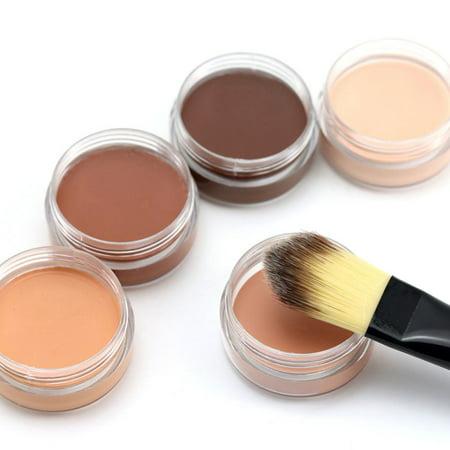 5 Color Cover Natural Color Lasting Waterproof Concealer Face Makeup Concealer Foundation Palette Moisturizing Creamy