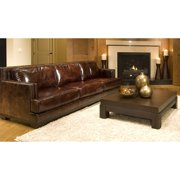 Emerson Top Grain Leather Sofa in Saddle Color