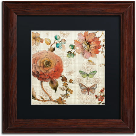 """Trademark Fine Art """"French Country IV"""" Canvas Art by Lisa Audit, Black Matte, Wood Frame"""