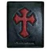 Christian Art Gifts 369715 Wallet Genuine Leather Cross Black