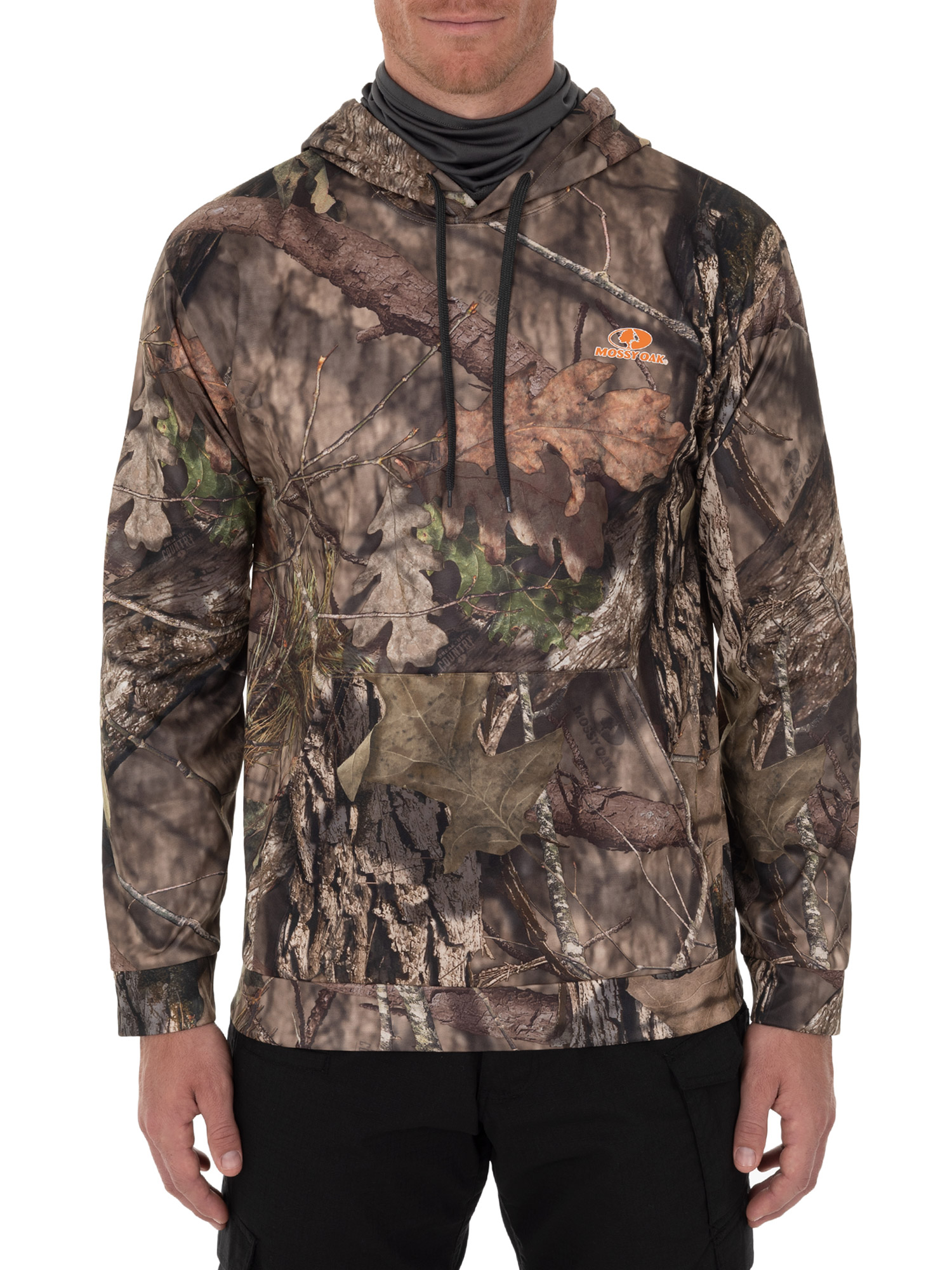 Mossy Oak Men's Long Sleeved Performance Fleece Camo Hunting Hoodie