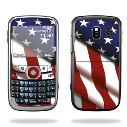 Mightyskins Protective Skin Decal Cover for Pantech Link P7040 Cell Phone wrap sticker skins American Pride