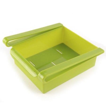 Ménage Plastique Réfrigérateur Rangement Tiroir Coulissant étagère Plateau Vert - image 3 de 3