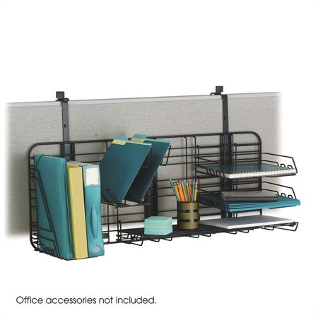safco gridworks compact office organization system charcoal gray