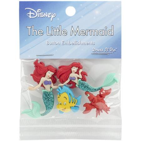 Dress It Up Licensed Embellishments-Disney The Little Mermaid (Dress Up Little Mermaid)
