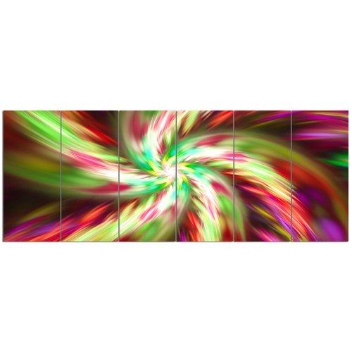 Design Art 'Exotic Multi-Color Flower Petal Dance'  6 Piece Graphic Art Print Set on Canvas