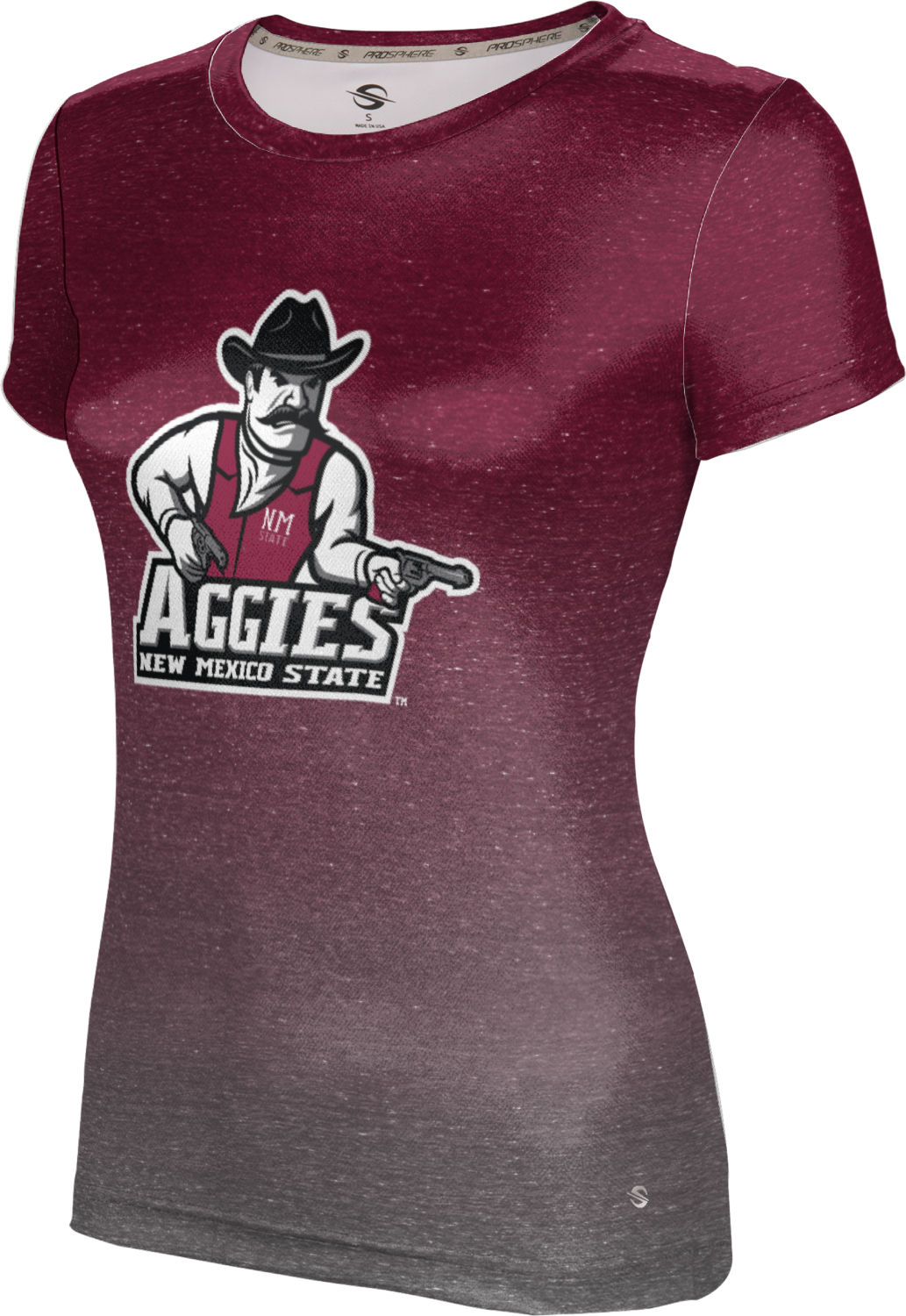 ProSphere Girls' New Mexico State University Ombre Tech Tee