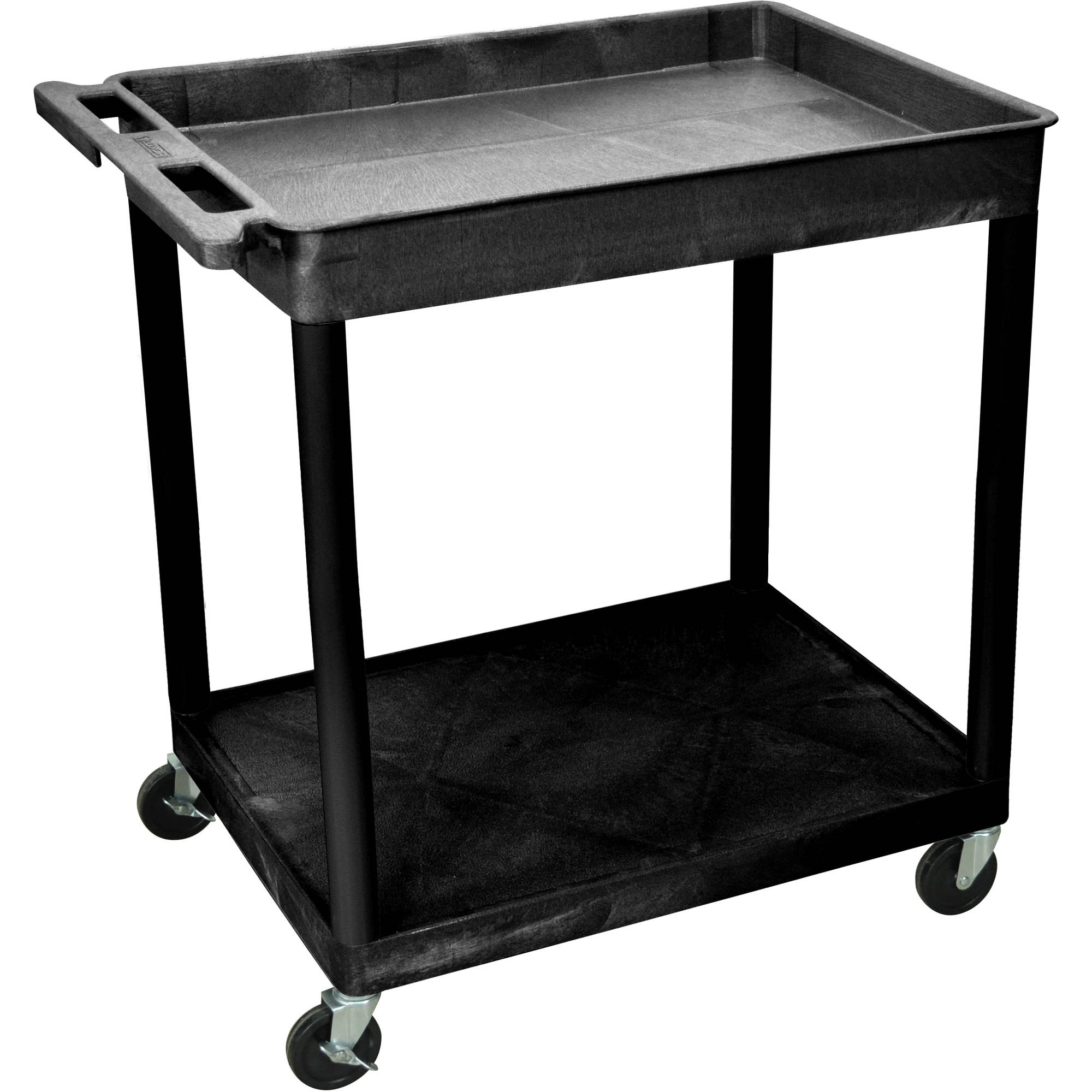 Luxor Large Tub Top and Flat Bottom Shelf Cart