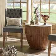 iNSPIRE Q Hatteras Drum Reclaimed Woodblock Barrel Side Table by  Artisan