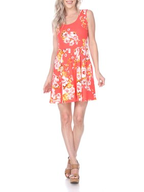 Women's Flower Print Fit and Flare Dress