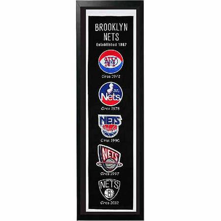 "NBA 14"" x 37"" Banner Frame, Brooklyn Nets by"