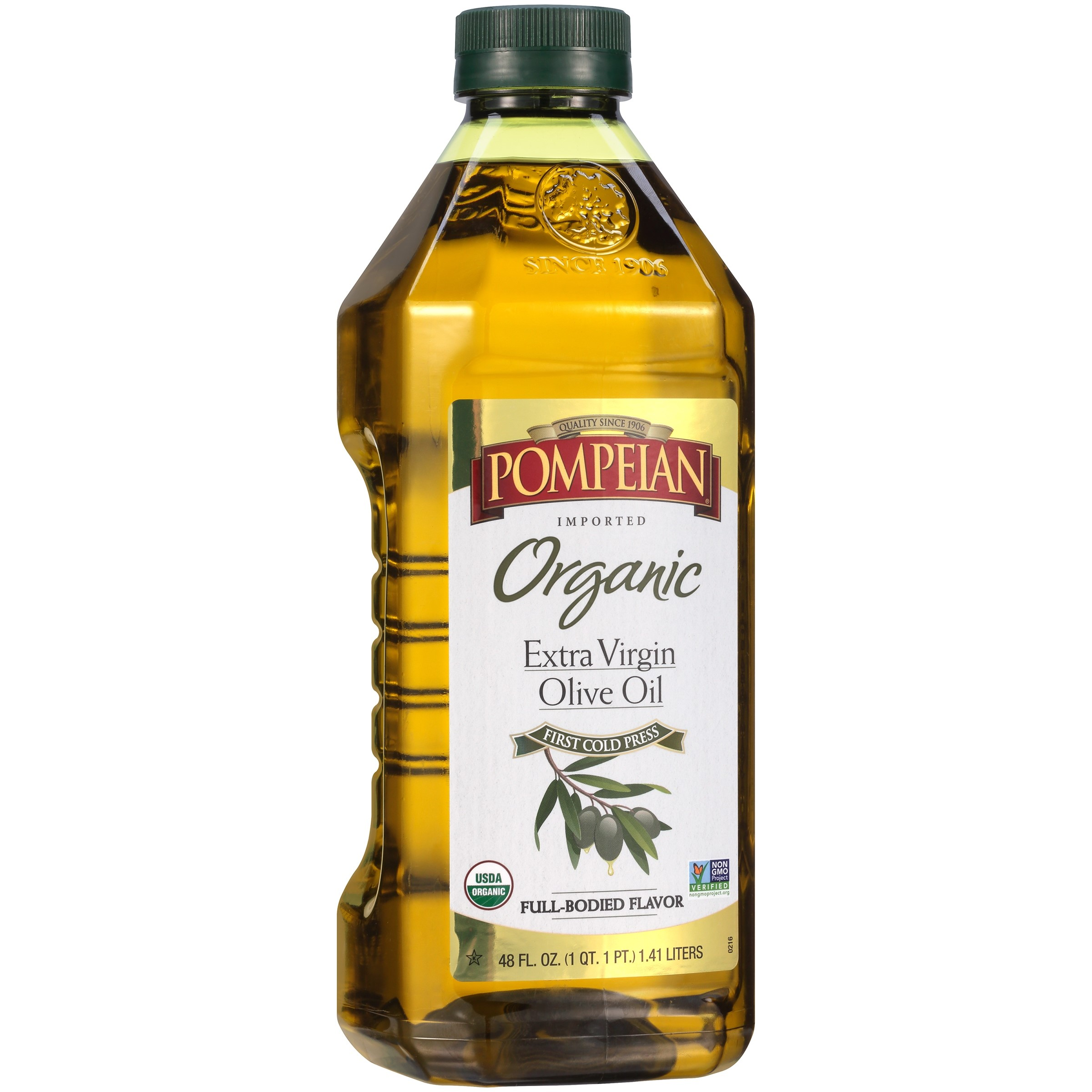 Pompeian® Organic Extra Virgin Olive Oil 48 fl. oz. Bottle - Walmart.com