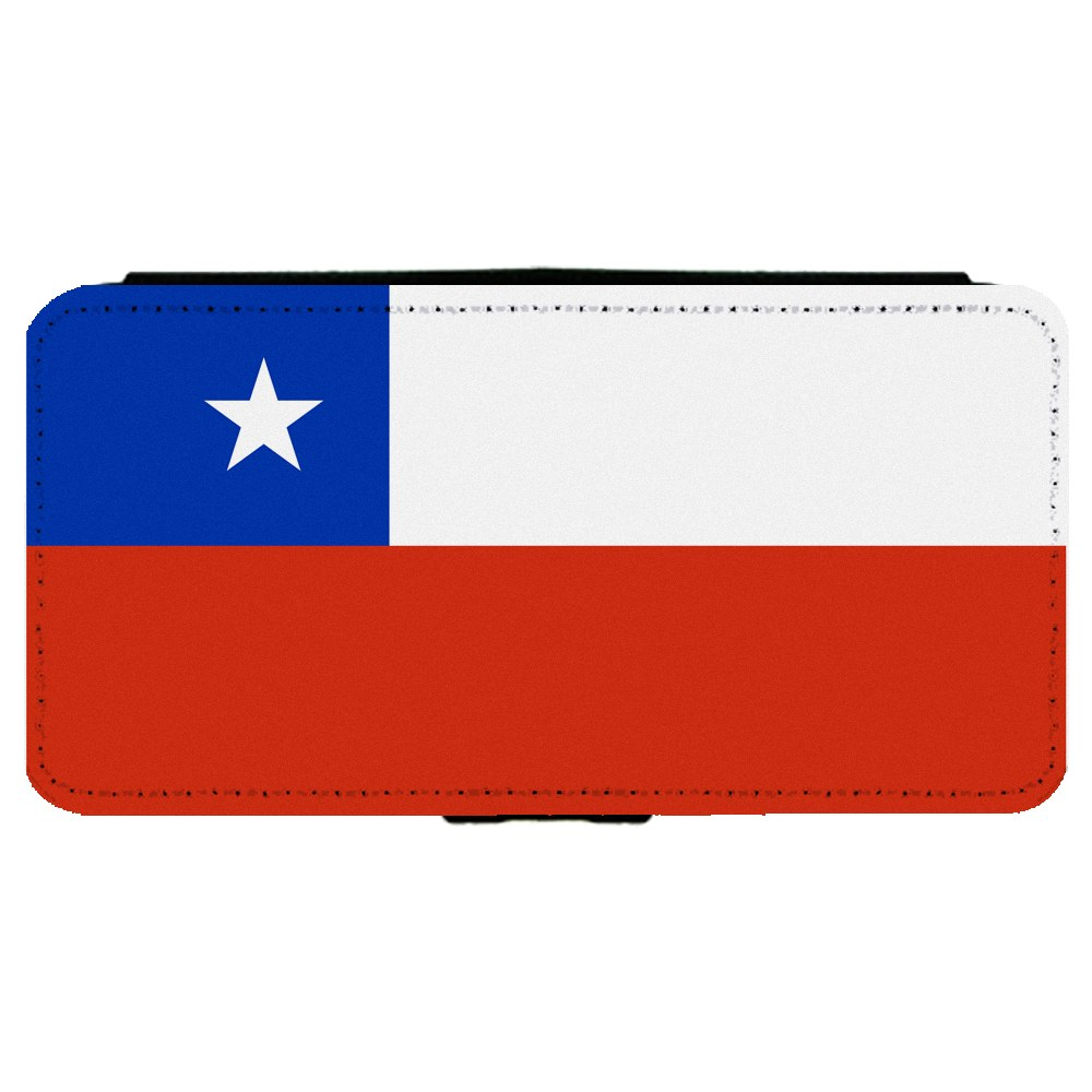 Chile Chilean Flag Apple iPhone 7 (4.7 inch) Leather Flip Phone Case by Mad Marble
