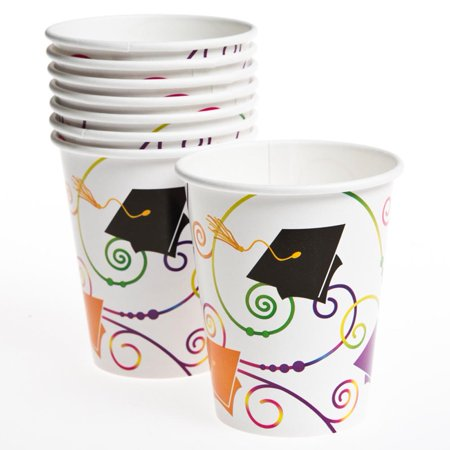 Graduation Scroll 9 oz. Cups