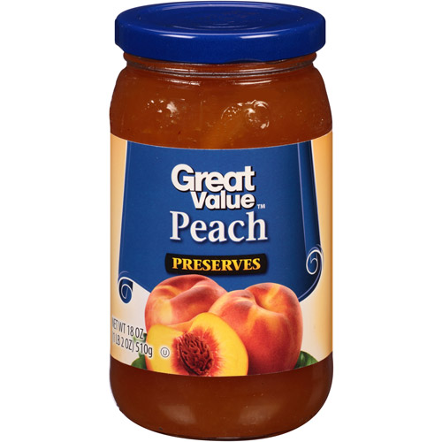 Great Value Peach Preserves, 18 oz