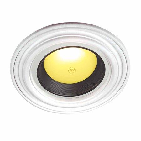 White Urethane Spot Light Trim Recessed Durable Foam 6 1/2 ID