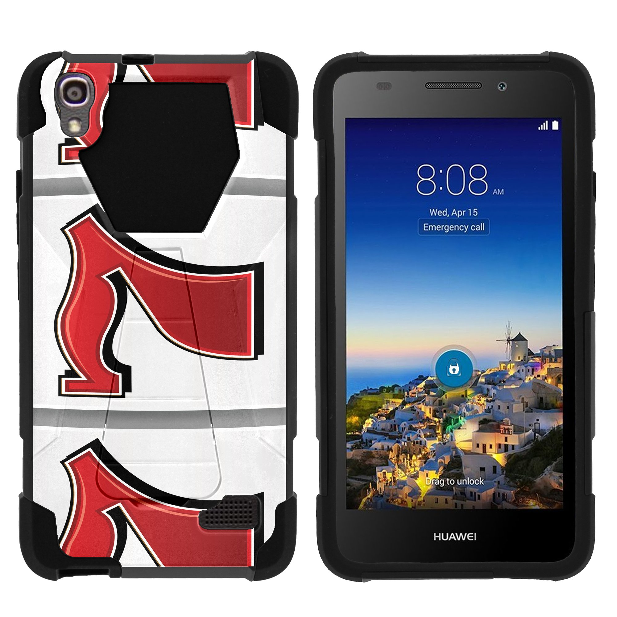 TurtleArmor ® | For Huawei Pronto LTE H891L | SnapTo G620 [Dynamic Shell] Dual Layer Hybrid Silicone Hard Shell Kickstand Case - Lucky 777
