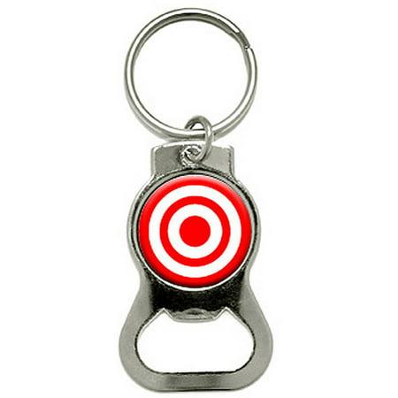 target bullseye bottle cap opener keychain ring. Black Bedroom Furniture Sets. Home Design Ideas
