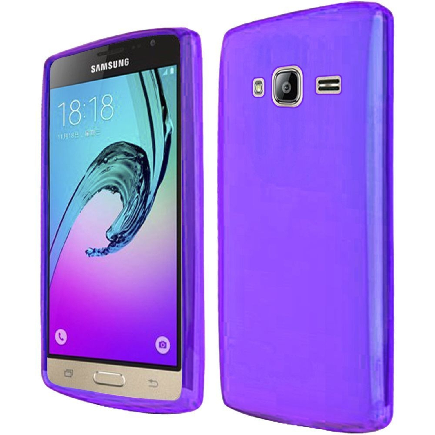 promo code fc4a9 8bb1a Insten Frosted TPU Case For Samsung Galaxy Amp Prime / J3 (2016) - Purple
