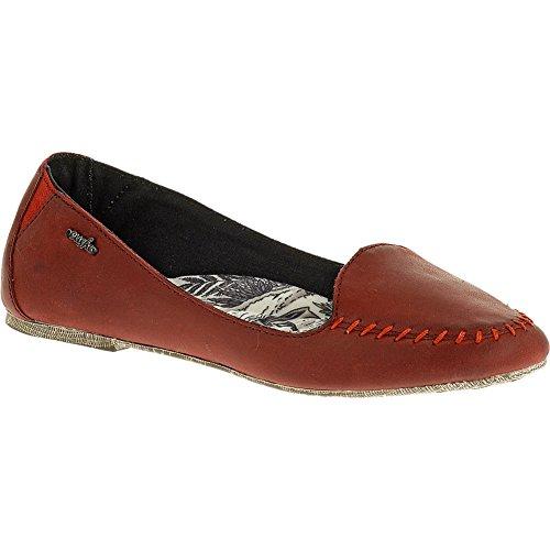 Cushe Flat Women's Lamu Leather Red Flat Cushe 7 B (M) 2f773c