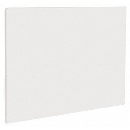 Crestware White Polyethylene Cutting Board, 18
