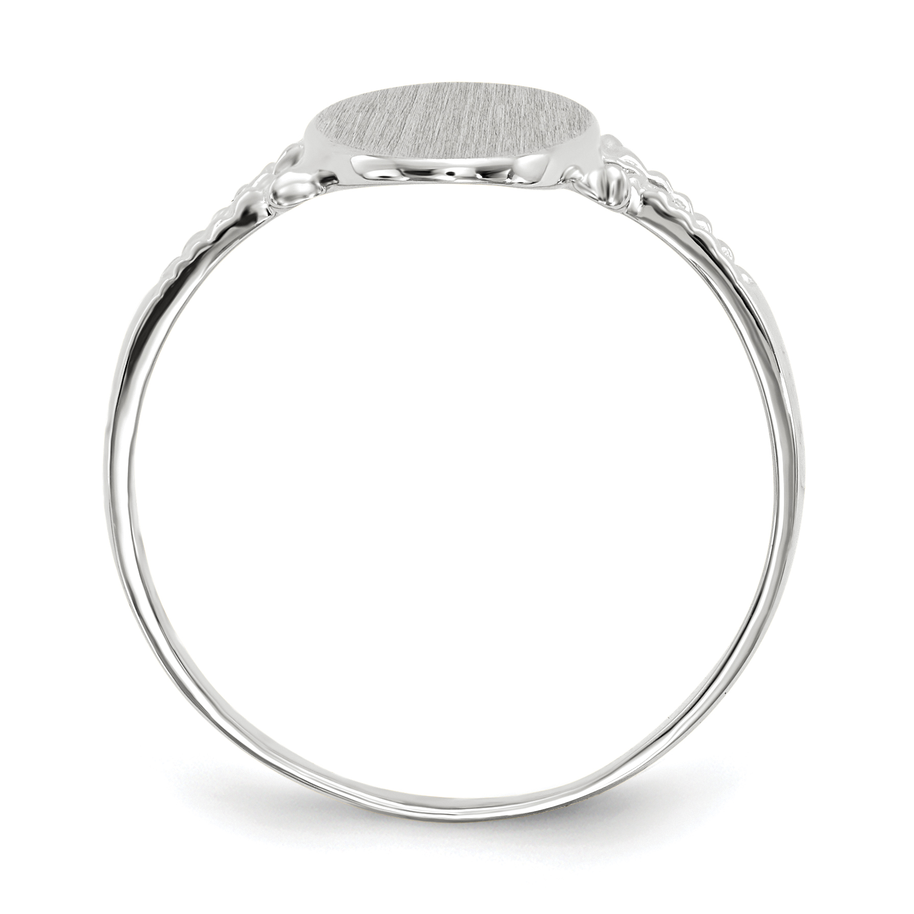 14K White Gold Signet Ring - image 3 of 5