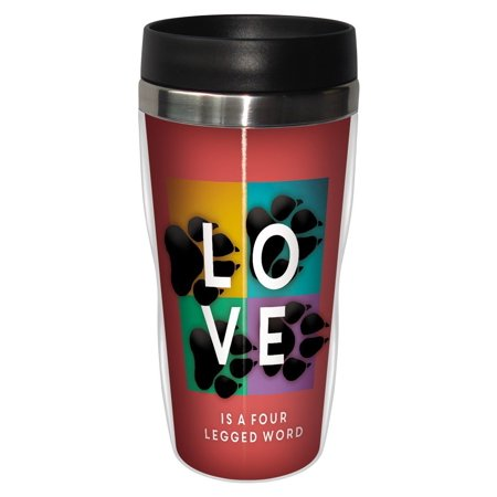 Tree Free Greetings 78173 Angi And Silas Four Legged Word Sip N Go Stainless Lined Travel Mug  16 Ounce