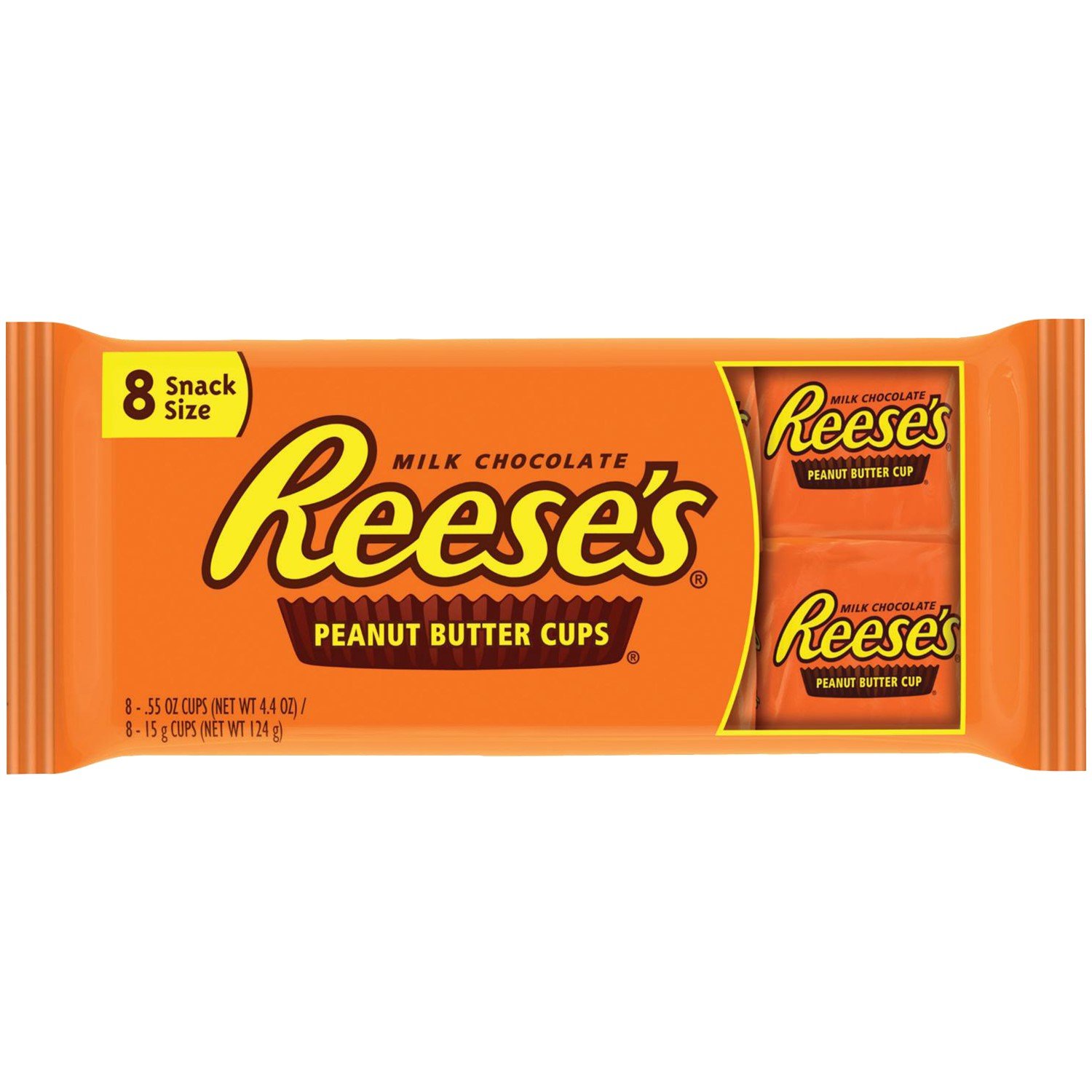 Reese's Snack Size, Peanut Butter Cups, 4.4 Ounce