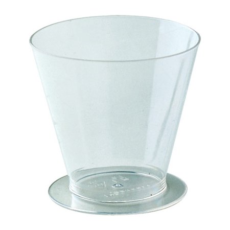 Martellato Round Dessert Cups Clear Plastic, 3